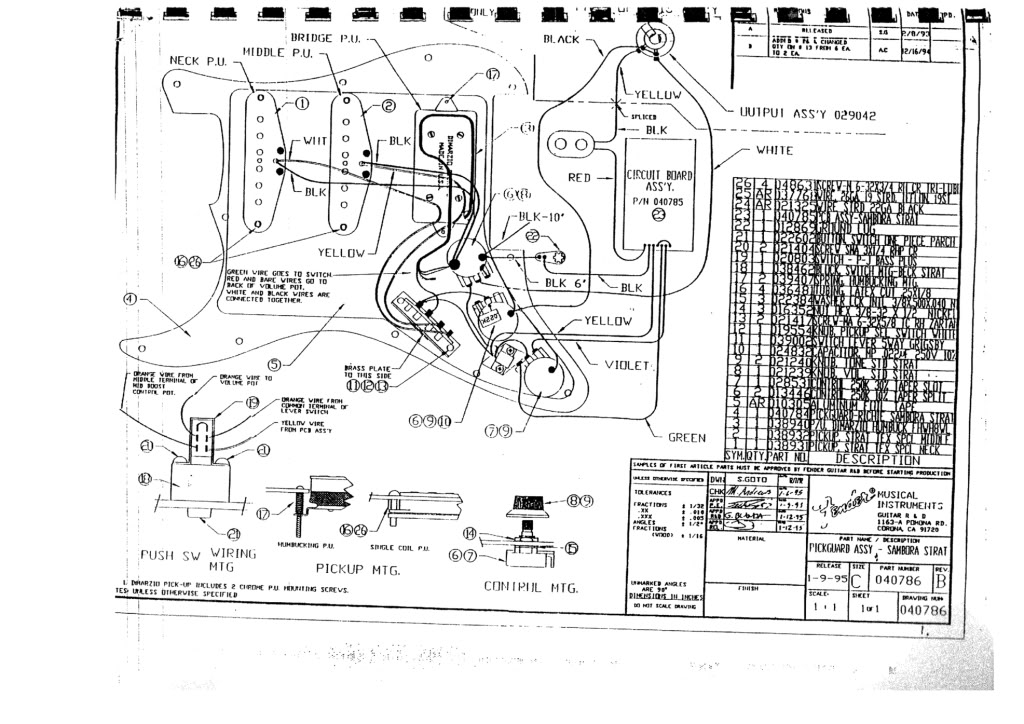 service - richie sambora gear, Wiring diagram